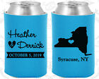 Personalized Wedding Coozies Custom Coozie (131) New York Wedding Favors