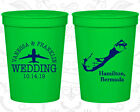 Personalized Wedding Plastic Cups Custom Cup (163) Bermuda Wedding Favors