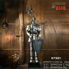 Hand-Made Iron Medieval Crusader Knight in Suit of Armor Battle ax & Shield