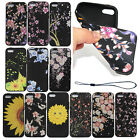 Black Patterned Rubber Soft TPU Silicone Case Cover For Apple iPhone 6s 7 Plus