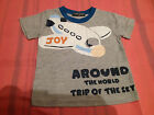 NEW***FIRST COUNT® Quality Toddler Boys Short Sleeve Top***Grey***Size 1-2