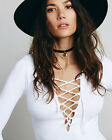 NEW Free People Intimately Lace Up Layering Top White XS-M/L Retail $82.58