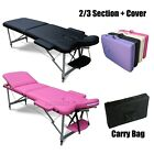 FoxHunter Portable Folding Massage Table Beauty Salon Tattoo Therapy Couch Bed <br/> *FREE COVER AND CARRY BAG*HEIGHT ADJUSTABLE*PU LEATHER*