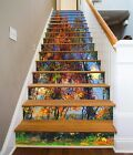 3D Tree Oil Painting 543 Risers Decoration Photo Mural Vinyl Decal Wallpaper CA