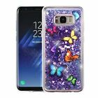 For Samsung Galaxy S8 / Plus Blig Hybrid Liquid Glitter Rubber TPU Case Cover
