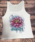Jersey Tank Top Beautiful Lotus Tropical Floral Zen Ethical Print JTK837