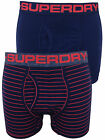 Superdry Mens Double Pack Boxer Shorts in Richest Navy Blue