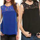 Women Summer Elegant Lace Vest Top Sleeveless Blouse Casual Tank Top T-Shirt