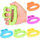 Hand Power Training Grip Finger Strength Rubber Muscle Ring Exerciser Fitness