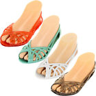 Women Jelly Slip On Sandals Shoes Ballet Flats Garden Hollow Plastic Water Clear