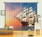 3D Sky boat 43 Blockout Photo Curtain Printing Curtains Drapes Fabric Window US
