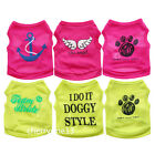 Extra Small Medium Dog Clothes Pet Puppuy Vest Shirt for Chihuahua yorkie teacup