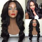 Lace Front Wig Heat Friendly Synthetic Hair Natural Looking Long Wavy Wigs Black