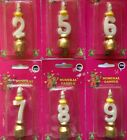 Numeral Birthday Candles Number 2 5 6 7 8 9  FREE Fast Postage Aussie Seller :-)