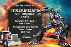 "Buy ""Personalised Transformers Optimus Prime Birthday Party Invites + envelopes TR"" on EBAY"