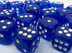 10 x LARGE Six Sided Translucent Dice 19mm Casino Craps