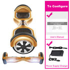 "Local US Stock 6.5"" Wheels Self Balancing Scooter Slick BT LED UL2272 Listed NEW"