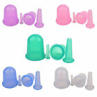 4pcs Silicone Anti Cellulite Massage Vacuum Cupping Body Facial Cups Therapy US