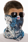 Fish Camo Sun Protection Face Mask UPF50+ heatgear with cool touch fabric