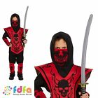 CHILD NINJA SAMURAI WARRIOR DRESS UP OUTFIT AGE 4-12 boys fancy dress costume