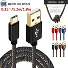Strong Denim USB C 3.1 Type-C Data Sync 2A Fast Charger Cable for Samsung Huawei