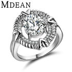 MDEAN White Gold Color Fashion Rings For Women Romantic Rings Size 6,7,8 MSR312