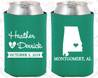 Teal Green Wedding Koozies Koozie Favors Gift Ideas Decorations Gifts (100)