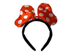 LADIES GIRLS FANCY DRESS MINNIE MOUSE RED SPOTTED PADDED BOW HEAD BAND UK SELLER