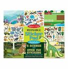 Melissa And Doug Reusable Sticker Pads - Various Designs/Themes - ALL NEW!!