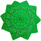 Hoodboyz Single-color Pack 10 Pcs Herren Bandana Grün Weiß(83378)
