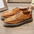 Mens Oxfords Brougue Wing Tip High Top Ankle Boots Flat Dress Shoes Formal HOT