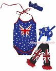 Queen Day UK Butterfly Star Halter Neck Baby Bodysuit Leg Warmer Shoes Set 0-18M