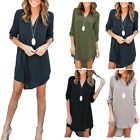 Women V Neck Loose Long Sleeve Chiffon Casual Blouse Shirt Tops Blouse Colors