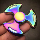 Rainbow Tri-Spinner Figet Spinner Hand Finger Mixed Desk Focus Colorful Toy Gift