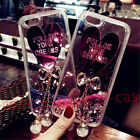For ZTE Zmax Pro Bling Bownot Crystal Moving Quicksand Hybird Heart Glitter Case