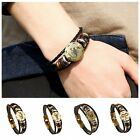 Retro Punk 12 Zodiac Star Sign Leather Weave Horoscope Charm Bangle Bracelet