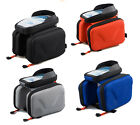 """Bicycle cycling handlebar 5.5"""" touch screen cell mobile phone saddle bags case"""
