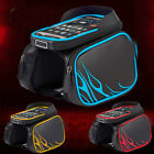 """Bicycle cycling handlebar 6.2"""" touch screen demountable front frame phone bags"""