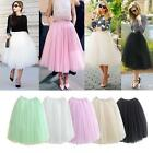 5Layer Women Princess Tulle Ballet Circle A Line Flare Gauze Tutu Fairy Skirt US
