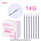 Surgical Steel Body Piercing Needles 14G 16G 18G for Navel Nose Lip Ear 100pcs