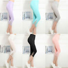 Lady Women Summer Slim Sexy Lace Hook Skinny Stretch Trimmed Leggings Pants Hot