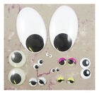 GLUE ON WOBBLY GOOGLY EYES *4 COLOURS* *9 SIZES* ARTS CRAFTS  SCRAP BOOKING