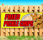FRIED PICKLE CHIPS Advertising Vinyl Banner Flag Sign Many Sizes USA