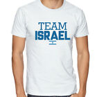 Israel Team Soccer T-shirt Adults Men's shirt Jersey 100 % cotton any sports image