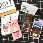 Tide Cute Drink juice Glitter Liquid quicksand Case Cover for iPhone 7 6 6S plus