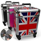 Pro Mobile Trolley Cosmetics Hairdresser Beautician Makeup Manicure Vanity Case