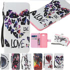 Diamond PU Leather Flip Wallet Stand Case Cover For Samsung Huawei Alcatel Phone