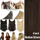 Secret Headband Elastic Wire One Piece No Clip In Hair Extensions Straight Wavy