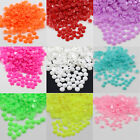 1000 x GLUE ON 3mm FLATBACK ACRYLIC FACETED RHINESTONES NAIL-ART CRAFTS GEMS ART