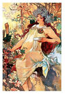 Mucha Lady Cotton Fabric Crazy Quilt Block Multi Sizes M3 Free Shipping